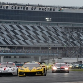 Corvette Racing; Corvette C8.R at The WeatherTech 240 at Daytona at Daytona, FL; July 3-4th 2020; C8.R #3 driven by Antonio Garcia and Jordan Taylor; C8.R #4 driven by Oliver Gavin and Tommy Milner(©Eric Klauser/Chevrolet)